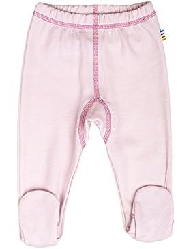 JOHA Frühchen Baby Mädchen Hose mit Fuss Strampelhose INUIT SOLID aus Merinowolle und Bio-Baumwolle in rosa