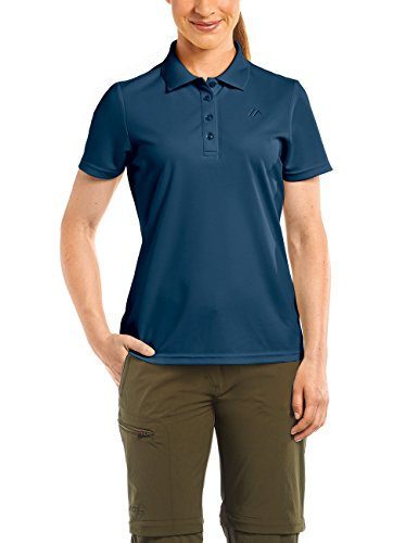 MAIER SPORTS Damen Polo Ulrike T-shirt,Blau (aviator), Gr. 44