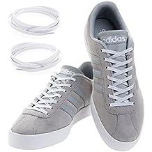 Maxxlaces lacci elastici regolabili da non dover annodare e adatti ad ogni scarpa, bianco