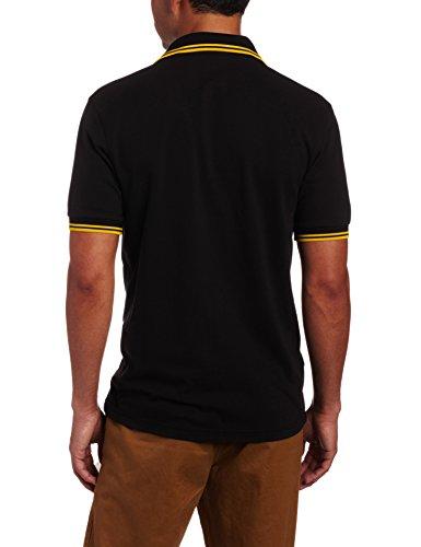 Fred Perry Herren Poloshirt M3600-506 Black/New Yellow