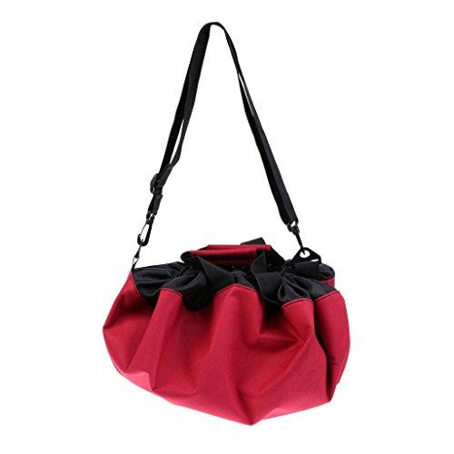 Baoblaze Umkleidehilfe Beutel wasserdichte Tasche für Schwimmen, Strand Sport - Rot
