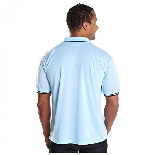 Herren Poloshirt Slim Fit T-Shirt Kurzarm Polo Hemd Baumwolle V-Neck Trends H2536 Hellblau