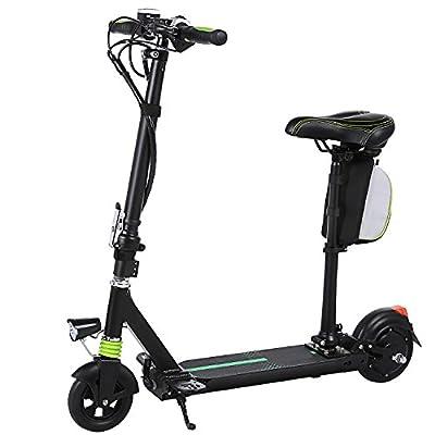 Elektroroller Erwachsene WeSkate Elektroscooter E-Scooter Mit Hoehenverstellbarem Sitz und Stoßdämpfungssystem, Wiederaufladbarer Elektro-Scooter, bis zu 220 lbs von WeSkate