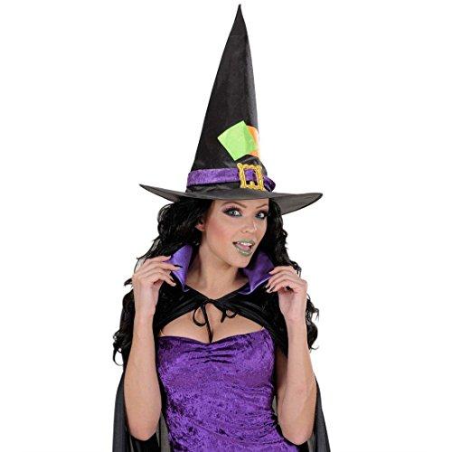 NET TOYS Hexen Set Halloween Schminke, Wimpern und Nägel schwarz Gothic Schminkset Fasching Make Up Hexenkostüm Zubehör Horror Kostüm Accessoires (Nette Nägel Halloween Für)