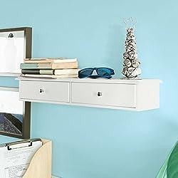 SoBuy® Mensola con cassetti, Libreria, porta gioielli a chiavi, colore:bianco, FRG43-W,IT