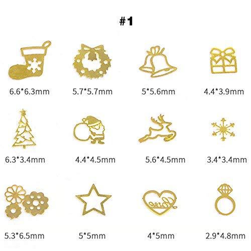 Boîte DIY Doré Slice Roue à ongles Bijoux Décoration Paillettes visage Cosmétique Art Crafts Décoration Mariage Fleurs