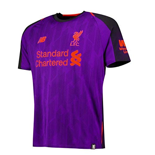 New Balance Equilibrio Liverpool Boys 'en Away Supporters Camiseta, Niños, LFC Away, Morado, S