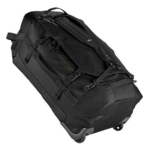 Eagle Creek Cargo Hauler Wheeled Duffel 130L, faltbare Reisetasche mit Rollen, großes Duffle Bag, abrieb- & wasserbeständiges TPU-Gewebe, Rucksacktragegurte, Jet Black, XXL
