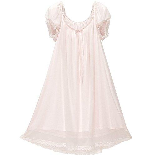 JINSHENG Pyjama Frauen Sommer Kurze ärmel antiken Gericht Spitzen inneneinrichtungsgegenstände Liebe Prinzessin Wind EIS und sexy Pyjamas,165 (L),Pink,