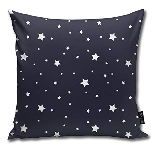 Elsaone Night Sky Stars Soft Dekorative Square Dekokissen Abdeckung Kissenbezüge Kissenbezug 18 x 18 Zoll / 45 x 45 cm
