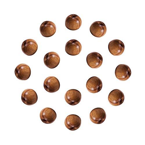 nbeads 500g/ ca. 4100 Stück Runde Holzperlen Holz Perlen Braun 8mm Holz Spacer Perlen für DIY Schmuck Herstellung -