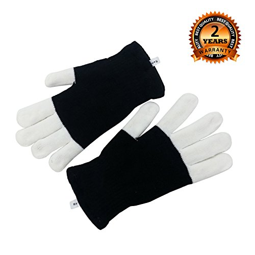 LEMEGO LED Handschuhe Blinkende Gloves Mit Beleuchtung Party Weihnachten Fasching Kostüme Handschuhe Geschenk für Kinder Damen Herren