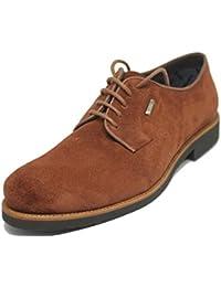 Zapato de Cordones Pala Lisa en Piel Ante Becerro Impermeable BARRATS para Hombre Color Marrón Medio