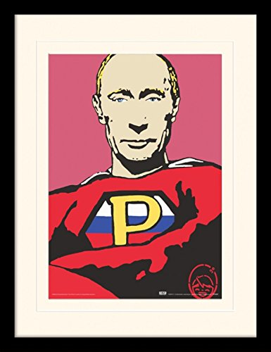 1art1 105896 TVBOY - Super Putin Gerahmtes Poster Für Fans Und Sammler 40 x 30 cm