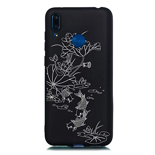 Kirstall Crystal Transparent Hülle für Huawei Y7 2019 /Y7 Prime 2019,Kreativ Niedliche Silikon Schutzhülle Flower Animal Cartoon Cover Soft Ultra Dünn Clear Gel TPU Gummi Guter Protective