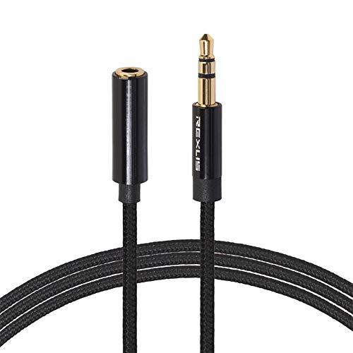 Asiproper Geflochtenes Kopfhörer-Verlängerungskabel 3,5-mm-Klinke Stecker auf Buchse Audiokabel - Klinke, Klinken