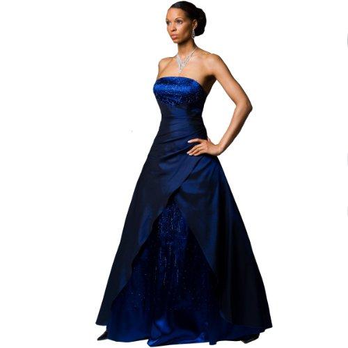 Exklusives Abendkleid Ballkleid mit Perlenbestickung