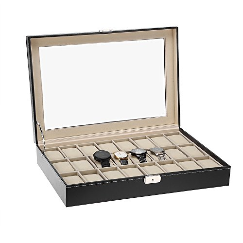 Cajas para relojes estuche de relojes 24 compartimentos para joyero relojes