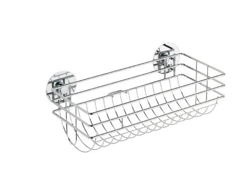 Wenko 5631100 Turbo-Loc Küchenrollenhalter - Befestigen ohne bohren, verchromtes Metall, 29 x 11 x 14.5 cm, Silber glänzend