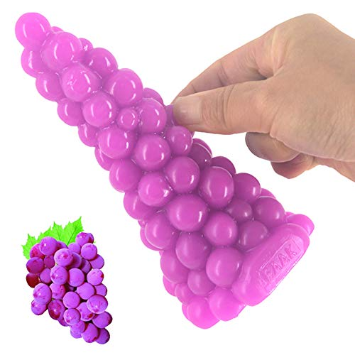 Analdildo Butt Plug Neue Trauben Design Spielzeug Spielzeug Frauen Homosexuell Porno Realität(Purple)