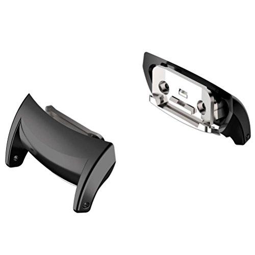 Transer per Samsung Gear Fit 2PRO Connettori, Acciaio Inossidabile Ricambio Band di connettori Fit per Acciaio Inossidabile/Pelle/Silicone Orologio Bracciale