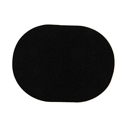 SODIAL(R) Doux Visage Nettoyant Visage Nettoyant eponge houppe Bloc Demaquillant Noir