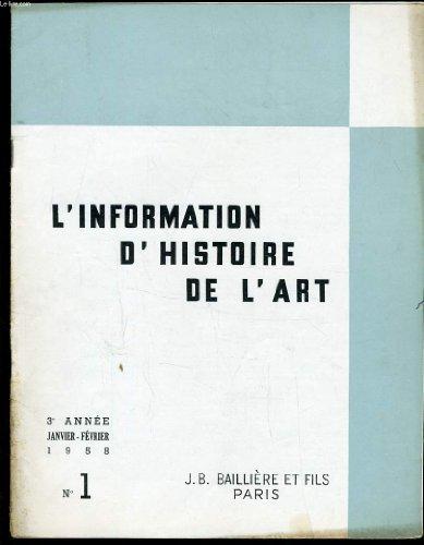 INFORMATION D'HISTOIRE DE L'ART n°1 : Art Grec et Arts du proche Orient - Géographique artistique de l'Islam - L'histoire de l'art et les disciplines