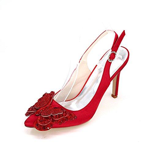De La FêTe Grande L Manteau Hauts red Taille Personnalisation Talons De PostéRieure Femme Mariage YC wPRfv