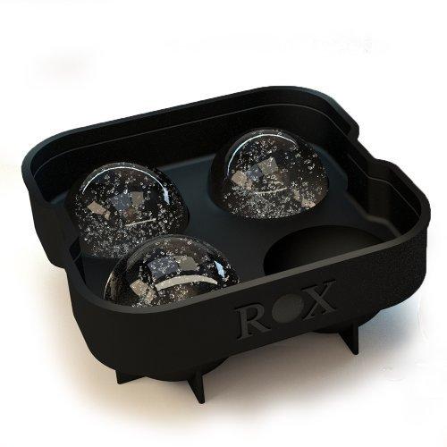 Cubitera para hielos redondos Rox Original. El mejor molde para bolas de hielo con capacidad para 4x4.5cm, en negro (Pack individual Rox)