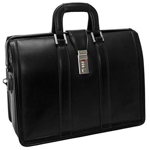 McKleinUSA 83345Morgan Leder Litigator Aktentasche für 17Laptop-Schwarz -