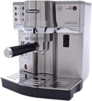 Delonghi Half Automatic Combination Coffee Machine - Dlec860, Silver, Stainless Steel Material