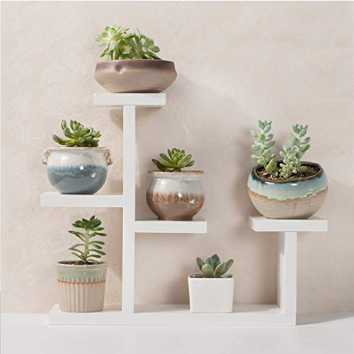 Blumenständer Pflanzenständer Multi Holzregale Bonsai Display Shelf Indoor Outdoor Yard Garden Patio Balkon Multifunktionslagerregal Bücherregal 6 Holzregale 6 Töpfe (Farbe : B) | Dekoration > Dekopflanzen > Blumenständer | G'z