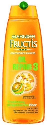 Garnier Fructis Oil Repair 3 Kräftigendes Shampoo, für trockenes, strapaziertes Haar - 250ml - 4x
