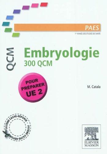 Embryologie 300 QCM