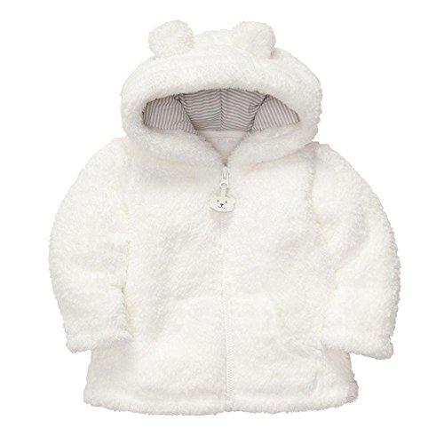 ALCYONEUS Baby Boy Girl Neugeborenen Hoodies Mantel Dick Tops Kinder Carter Style Oberbekleidung für 0-24 Monate size 6-12 Months (Weiß) (Baby Boy Carters)
