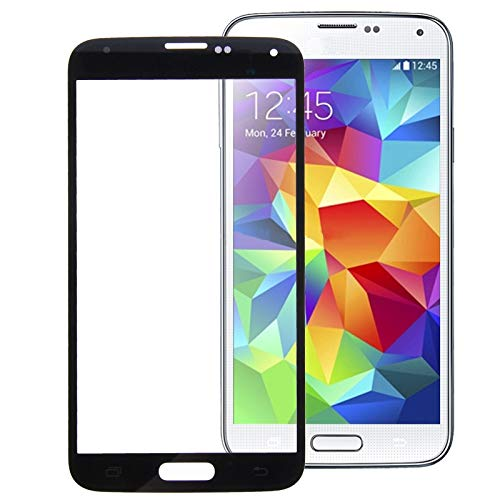 ZCBMH Frontscheibe Glas SIM-Karte Anschluss Flexible cab Yushaojun for Galaxy S5 / G900 Frontscheibe äußere Glaslinse (lila) (Farbe : Black)