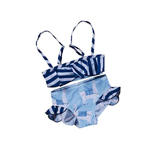 JERFER Säugling Baby Gestreift Baden Passen Tankini Bikini ()