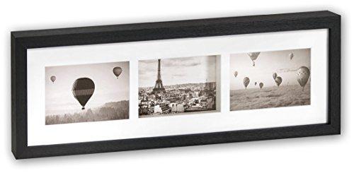 ZEP Pigalle - Portafotos triple madera efecto profundidad