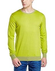 Gas Mens Cotton Sweater (8056775124016_758113612_Medium_Sour Green)