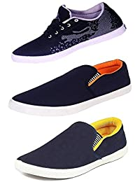 STARSTEP Mens Perfect Combo Pack Of 3 Stylish Casual Sneaker With Loafers