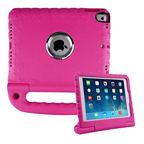 Price comparison product image Surom Upgraded Kids Case iPad 9.7 2018/2017 - Light Weight Shock Proof Convertible Handle Stand Friendly Kids Case iPad 9.7-inch 2018 Latest Gen/iPad 9.7-inch 2017/iPad Air/iPad Air 2 Tablet - Rose