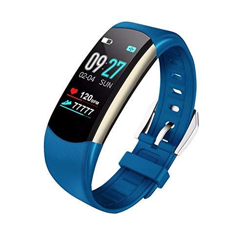 HEATLE Uhr ansehen Gute Qualität Praktisch Smartwatch Sport Fitness-aktivität Herzfrequenz-Tracker Blutdruckkalorien (1PC, Blau)