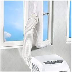 Rhodesy Joint de Fenêtre pour La Climatisation Mobile et Sèche-Linge, Adapté à L'unité de Conditionnement d'air Portable, Arrêt d'air Chaud - Facile à Installer - Pas Besoin de Trous de Forage 300CM