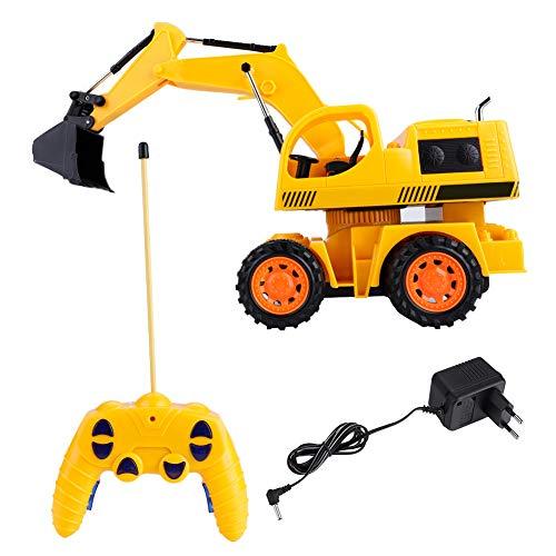 RC Baufahrzeug kaufen Baufahrzeug Bild 1: Dilwe RC Bagger, 5CH Full Functional Fernbedienung Bagger Baufahrzeug Bagger Traktor*