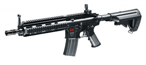 Heckler & Koch HK 416CQB 416 Komplettset AEG Softair 6mm BB schwarz AEG ELEKTRISCHES Gewehr (Bb Airsoft Gun Billig)