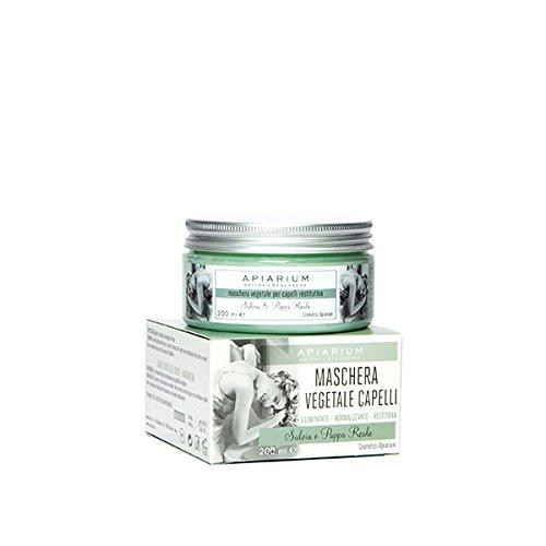Apiarium - Maschera Vegetale per Capelli, Rinforzante e Rigenerante con Salvia e Pappa Reale - Made in Italy