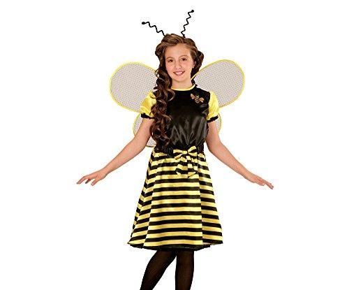 (Widmann 03967 - Kinderkostüm Biene, Kleid, Unterrock, Gürtel mit Schleife, Flügel und Fühler)