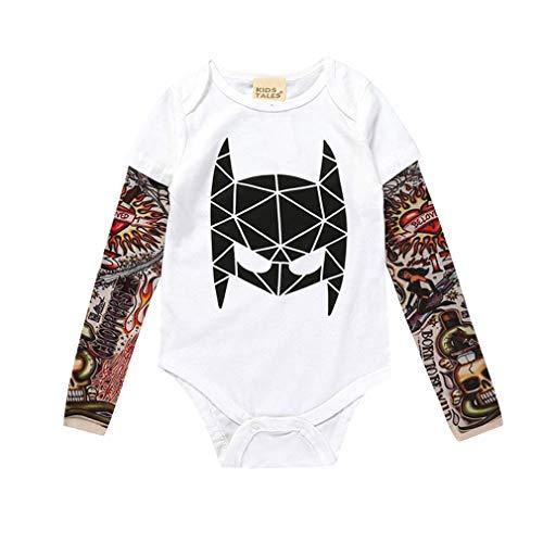 Hibote Baby Jungen Mädchen Strampler Neue Unisex Tattoo Sleeve Kleinkind Overalls Für Kinder Baby Mode Einteilige Kleidung