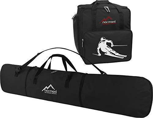 Snowboard Taschen-Kombi bestehend aus Snowboardtasche 166cm und geräumiger Zubehörtasche für Helm, Schuhe und weiteres Ski-Equipment - verfügbar in Mehreren Farben Farbe Schwarz (Snowboard Boot-und Board-tasche)