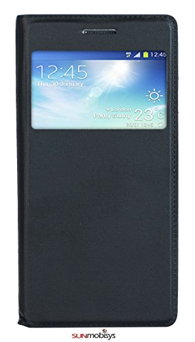 Sun Mobisys Call iD Flip Cover for Samsung Galaxy Grand2 G7102/06/08 Black